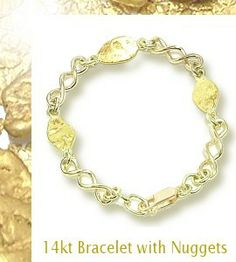 14ct bracelet with nuggets