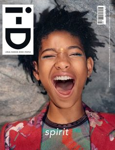 i-D Magazine Pre Fall 2015 Covers, published in August 2015; Tyrone Lebon - Photographer; Julia Sarr-Jamois - Fashion Editor/Stylist; Steven Aturo - Makeup Artist; Marisa Carmichael - Manicurist; Willow Smith - Entertainer