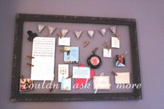 Blessed Banner - frame filled with things to be grateful for and happy about! Wonderful idea.