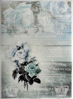 Rice Decoupage Paper / Decoupage Sheets  / Scrapbooking / ROYAL BLUE