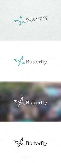 Tho not a bird, I like how this butterfly is a very simplistic, minimal idea of a butterfly. Would want to go this route if did incorporate a bird. Logo Desing, Best Logo Design, Web Design, Letterhead Template, Logo Templates, Typography Logo, Logo Branding, Butterfly Logo, Butterfly Place