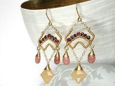 Berry Souffle 14K Gold Fill EarringsGarnet by AdornobyHolly