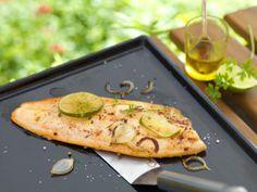 Filet de truite mariné au citron vert et gingembre, à la plancha | Atelier Poisson