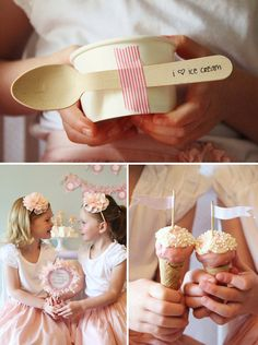 """Give each summer reading participant a cup like this one with a spoon attached.  Write, """"Dig into summer reading,"""" on the spoon.  Put certificates for ice cream from local ice cream shops inside of cup."""