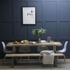 Woburn Reclaimed Wood Dining Table With Steel U Frame