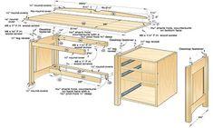 99+ Wood Computer Desk Plans - Cool Furniture Ideas Check more at http://www.shophyperformance.com/wood-computer-desk-plans/