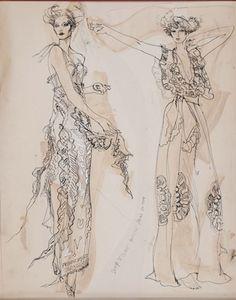 Gray MCA Fashion Illustration Sale