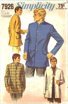 Simplicity 7926 Men's Nehru Jacket