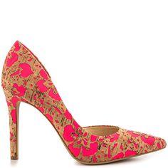 fb98b175b6e Jessica Simpson Claudette - Nat Laser Pink Floral Cork Floral Print Shoes