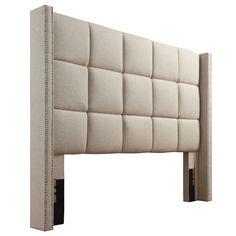 INSPIRE Q Parker Linen Nailhead Wingback Panel Upholstered Queen-sized Headboard Bed Headboard Design, Linen Headboard, Queen Size Headboard, Modern Headboard, Headboards For Beds, Bed Linen, Luxury Bedroom Design, Bedroom Bed Design, Bedroom Decor