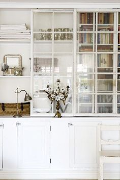 wintery white cabinetry. / sfgirlbybay