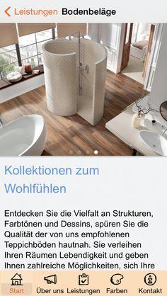 Apmato-made-app des Malerfachbetriebs Westermann & Co. KG in Mühlen, Westfalen, Norddeutschland ❧ Content screen.
