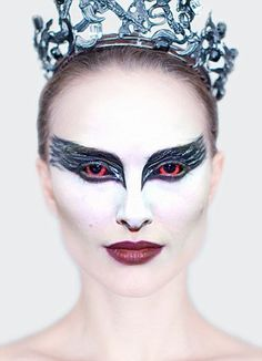 Dramatic: Try out Natalie Portman's eerie make-up in Oscar-winning Black Swan
