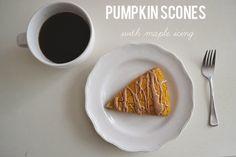 gluten-free pumpkin scones with maple icing