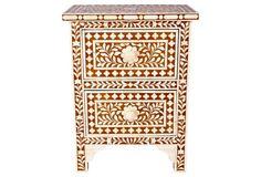 $899 - Harper Nightstand, Camel/Ivory