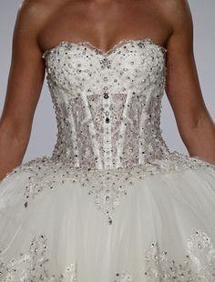 Bridal Gowns: Pnina Tornai Princess/Ball Gown Wedding Dress with Sweetheart Neckline and Natural Waist Waistline Wedding Wows, Bridal Wedding Dresses, Bridal Style, Wedding Ideas, Dream Wedding, Bling Wedding, Wedding Things, Wedding Stuff, Pnina Tornai Dresses
