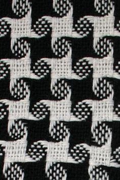 Handwoven pinwheel scarf