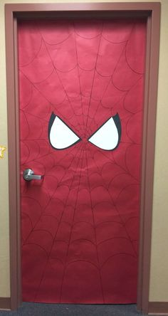 Spiderman theme Party Ideas Busy Miss B Superhero Classroom Doors Spiderman Theme Party, Superhero Birthday Party, Birthday Parties, Spiderman 4, Spider Man Party, Superhero Classroom Door, Birthday Party Decorations, Party Themes, Party Ideas