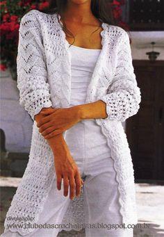 Lindo casaco de crochê