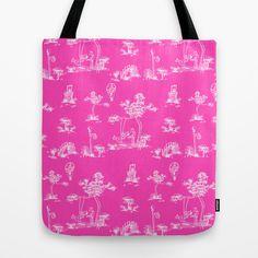 Toile Pink Unicorn Tote Bag by That's So Unicorny - $22.00