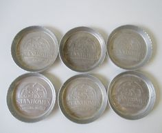 Coasters Advertising Stanhome Vintage Aluminum Set by HobbitHouse