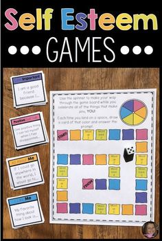 Self Esteem Games For Positive Self Talk And Coping Skills For Low Self Esteem - These self esteem games for kids are the perfect activities to help upper elementary students impro - Group Therapy Activities, Coping Skills Activities, Mental Health Activities, Self Esteem Activities, Therapy Games, Activities For Teens, Counseling Activities, School Counseling, Group Counseling
