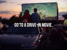 Drive-In Movie at Sunset