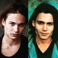 Johnny Depp and Frank Dillane are twins to me.