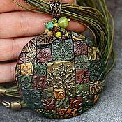 Handmade Jewelry.  Fair Masters - handmade from polymer clay pendant fairy treasure.  Handmade.