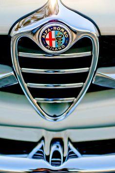1962 Alfa Romeo Giulietta Coupe Sprint Speciale Grille Emblem - Jill Reger - Prints for sale
