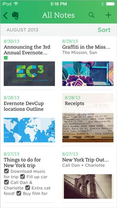 Новый Evernote для iOS 7 - Блог Evernote