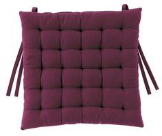 Galet de chaise coton 25 Points aubergine - Winkler