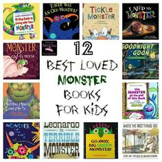 Just in time for Halloween - 12 Best Loved (not so scary) Monster books to read with your kids. What's your favorite Monster book?