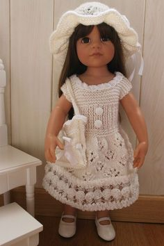 Tuto robe de cérémonie pour poupée Gotz (50cms)