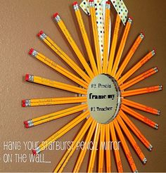 Starburst Mirror, great idea for an end of the year teacher gift =)