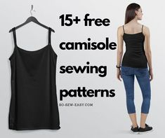 FREE Camisole Sewing Patterns Free sewing patterns - So Sew Easy Sewing Patterns Free, Free Sewing, Sewing Tutorials, Clothing Patterns, Sewing Projects, Sewing Ideas, Rug Patterns, Skirt Patterns, Vintage Patterns