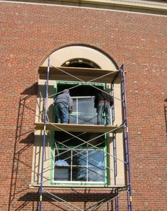 """""""Proven 6-step approach to treating historic windows."""" Erin L. Aichler, Assoc. AIA and Benjamin J. Robinson, Assoc. AIA - Building Design + Construction, June 2013."""