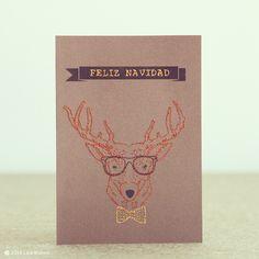 Deer embroidered christmas cards #laliwhite #laiablanco #laliwhitethemakery #diy #handmade #maker #feliznavidad #feliz #navidad #merrychristmas #christmas #merry #love #wishes #wish #best #family #friends #santa #noel #papanoel #reno #deer #reindeer #christmascard #card #tarjetanavideña #tarjeta #rudolf