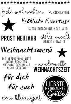 """Klartext Stempelset #AddOn """"Stille Nacht"""" zum Dezemberkit """"Schneeflockentanz"""" von www.danipeuss.de"""