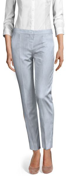 Design your Custom Made to Measure womens dress pants at Sumissura. High waist or normal, Pleated, slim fit or wide-leg, wool or linen pants. Discover the luxury of Made to Measure at an Affordable price Linen Pants, Seersucker, Ankle Length, Dress Pants, Custom Made, Wide Leg, Capri Pants, Spring Summer, Slim