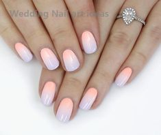 The advantage of the gel is that it allows you to enjoy your French manicure for a long time. There are four different ways to make a French manicure on gel nails. Gradient Nails, Neon Nails, Pastel Nails, Coral Ombre Nails, Galaxy Nails, Glitter Nails, Simple Wedding Nails, Wedding Nails Design, Simple Elegant Nails
