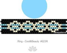 peyote ring pattern,PDF-Download, #023R, beaded ring pattern, beading tutorials, ring pattern