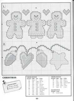 cross stitch gingerbread man - Pesquisa Google