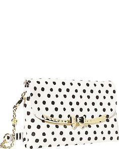 Serenitt Shoulder Bag in Polka Dot by Betsey Johnson