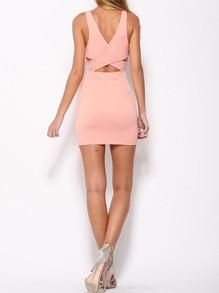 Sexy bodycon dress in pink. This mini dress is perfect to wear to a party wear clubbing wear as a dinner dress or wear as a cocktail dress. Sexy eye catching dr