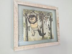 Where the wild things are nursery art  Frames from @hobbylobby and art from the book