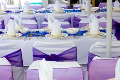 Great idea on sprucing up the chairs to match your wedding theme.