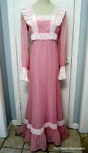 Vintage 1970s Prairie Maxi Dress Hippie Wedding Bridesmaid Lavender Costume
