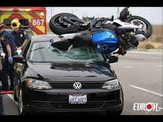 Funny Motorcycle Accidents - Horrible Motorcycle Accident Compilation 2014