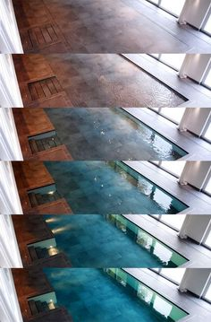 Hydro floors. The floor sinks and the pool appears!